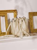Leather Crossbody Bag Croco Milano Beige croco CR19114N