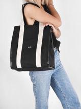 Shoulder Bag Tote Marche Leather Sonia rykiel Black tote marche 29-vue-porte