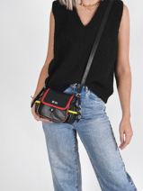 Crossbody Bag Luxembourg Leather Sonia rykiel Black luxembourg 41-vue-porte
