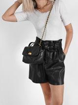 Leather Croisé Matelassé Crossbody Bag Lancaster Black croise matelasse 14-vue-porte