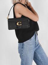Leather Tabby 26 Shoulder Bag Coach Black tabby 73995-vue-porte