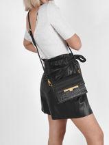 Leather Exotic Lézard Crossbody Bag Lancaster Black exotic lee 50-vue-porte