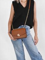 Leather Crossbody Bag Elmswood Lauren ralph lauren Brown elmswood 31746226-vue-porte