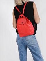 Longchamp Le pliage cuir Backpack-vue-porte