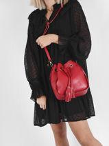 Crossbody Bag Caviar Leather Milano Red caviar CA21061-vue-porte