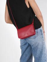 Longchamp Le foulonné Wallet Red-vue-porte