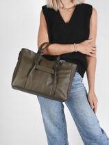 Longchamp Longchamp 3d zip Handbag Green-vue-porte