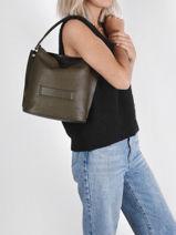 Longchamp Longchamp 3d zip Messenger bag Green-vue-porte