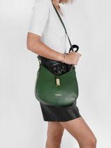 Shoulder Bag Milano Leather Lancaster Green milano 48-vue-porte