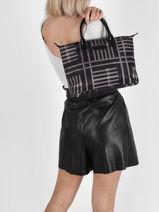 Shopping Bag Basic Vernis Lancaster Black basic vernis 66-vue-porte