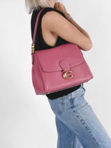 Shoulder Bag May Leather Coach Red may 3954-vue-porte