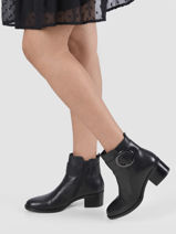 Leather ankle boots with buckle-GABOR-vue-porte