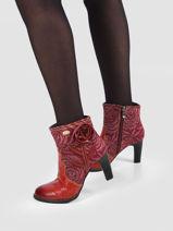 Leather ankle boots-LAURA VITA-vue-porte