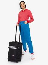 Cabin Luggage Softside Eastpak Black authentic luggage K61L-vue-porte