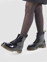 Boots 1460 bex vernis en cuir-DR MARTENS-vue-porte