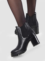 Boots with heel in leather-SEMERDJIAN-vue-porte