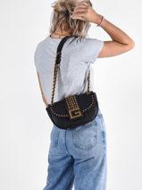 Shoulder Bag Bling Guess Black bling VB798421-vue-porte