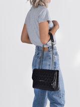 Shoulder Bag Wessex Guess Black wessex GN837921-vue-porte