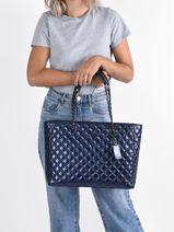 Shoulder Bag A4 Cessily Guess Blue cessily KM767923-vue-porte