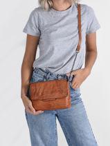 Crossbody Bag Felizia Leather Pieces Brown felizia 17116820-vue-porte