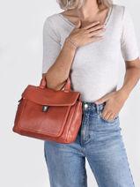 Leather Just Jackie Satchel Burkely Pink just jackie 84-vue-porte