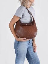 Phiby Shoulder Bag Lulu castagnette Brown vintage PHIBY-vue-porte