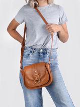 Phileas Crossbody Bag Lulu castagnette Brown vintage PHILEAS-vue-porte
