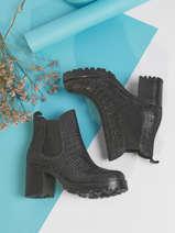 Boots with heel in leather-SEMERDJIAN