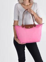 Longchamp Le pliage Hobo bag Pink-vue-porte