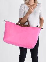 Longchamp Le pliage Sacs de voyage Rose-vue-porte