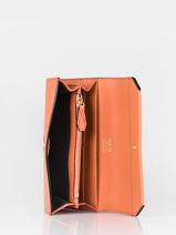 Slim Leather Wallet Ninon Lancel Orange ninon A09986-vue-porte