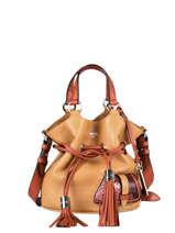 Small Leather Premier Flirt Python Bucket Bag Lancel premier flirt A11752