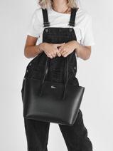 Shoulder Bag A4 Chantaco Leather Lacoste Black chantaco NF3494KL-vue-porte