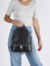 Leather Rhea Backpack Michael kors Black rhea S5SEZB1L-vue-porte