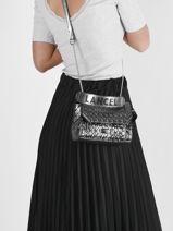 Metallic Leather Ninon Crossbody Bag Lancel ninon A11718-vue-porte