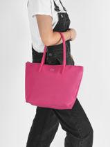Shoulder Bag L.12.12 Concept Lacoste Pink l.12.12 concept 18SAXP46-vue-porte