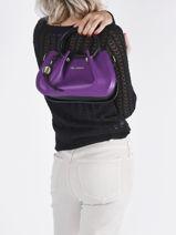Mini-sac Gretel Ted lapidus Violet gretel TLAU8923-vue-porte