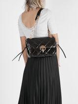 Quilted Leather Moon Shoulder Bag Vanessa bruno Black moon 84V40324-vue-porte