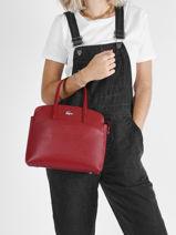 Leather Chantaco Top-handle Bag Lacoste Red chantaco NF3496KL-vue-porte