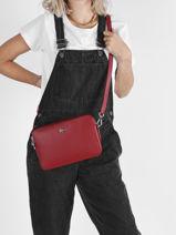 Shoulder Bag Chantaco Leather Lacoste Red chantaco NF3495KL-vue-porte