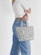 Small Le Cabas Tote Bag Sequins Vanessa bruno Gray cabas 1V40435-vue-porte