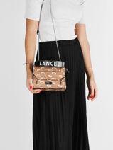 Small Leather Lancelgram Bag Lancel Brown lancelgram A11432-vue-porte