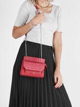 Small Leather Lancelgram Bag Lancel Red lancelgram A11854-vue-porte