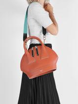 Leather Macaron Top-handle Bag Lancel macaron A11732-vue-porte