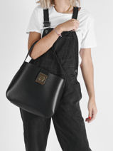 Leather Amelia Shoulder Bag Lacoste Black amelia NF3616ME-vue-porte