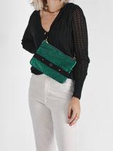 Nino Crossbody Bag Mila louise Green ar 23666AR-vue-porte