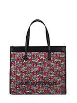 K/skuare Monogram Tote Bag Karl lagerfeld Black k skuare 216W3043