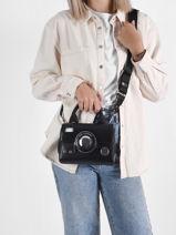 Leather K/ikon Mini Photo Crossbody Bag Karl lagerfeld Black k ikon 216W3008-vue-porte