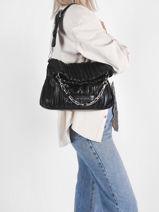 Small K/kushion Shoulder Bag Karl lagerfeld Black k kushion 216W3085-vue-porte
