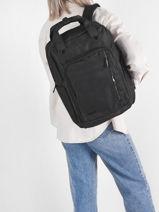 Backpack David jones Black street PC036-vue-porte